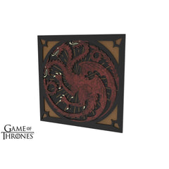 Game of Thrones - House Targaryen Chair Decoration - Set of 2-Table of Ultimate Gaming