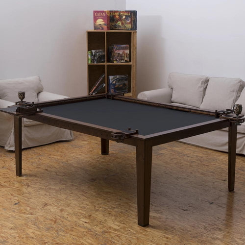 4'x6' Game Changer Series Walnut Color Table w/ Walnut Wood Top Rails GameChanger Series Table of Ultimate Gaming