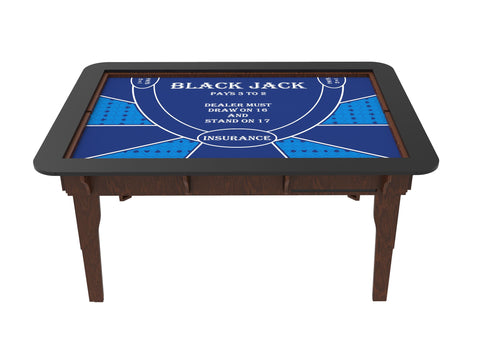Table Drop In Playing Mats - Fits All Tables Table of Ultimate Gaming 4x6 Blue / Blackjack
