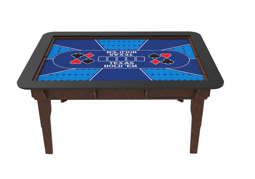 Table Drop In Playing Mats - Fits All Tables Table of Ultimate Gaming 4x6 Blue / Poker