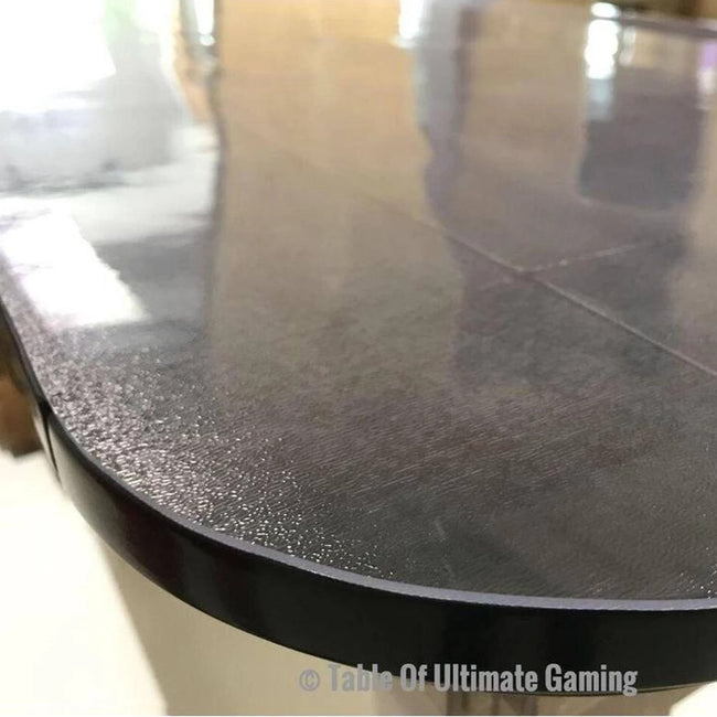 PVC Top Cover for Table of Ultimate Gaming - In Place on Dark Wood