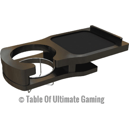 Two Cup Holders with Dice Tray - Fits Elite Series Tables Table of Ultimate Gaming Black