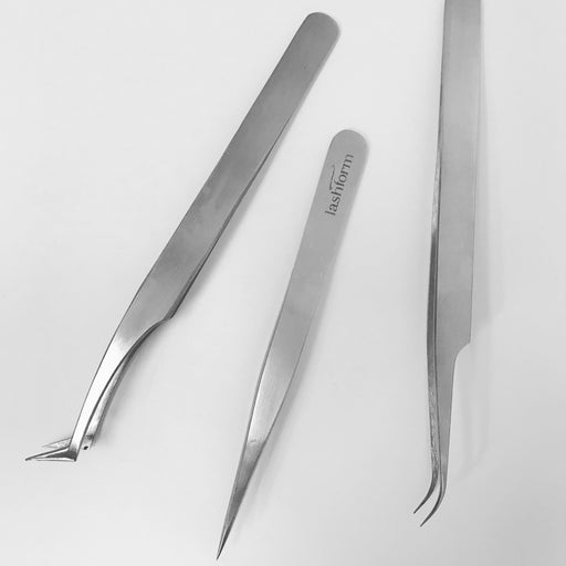 Stainless Steel Curved Tweezers 14cm