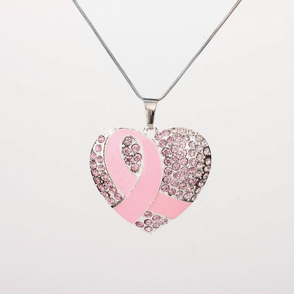 Breast cancer awareness pendant necklace cool gift lab breast cancer awareness pendant necklace aloadofball Gallery