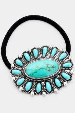 TURQUOISE CLUSTER Stretch Hair Band