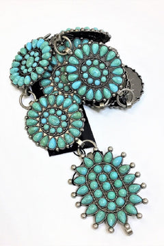 TURQUOISE CONCHO HIP BELT