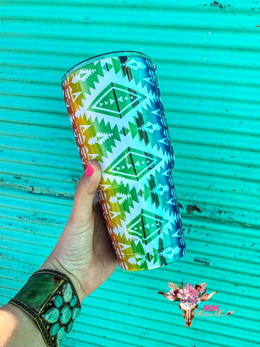 RAINBOW AZTEC TRAVEL MUG