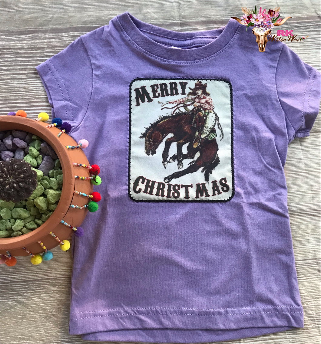 MERRY CHRISTMAS🎄 KIDS BRONC TEE