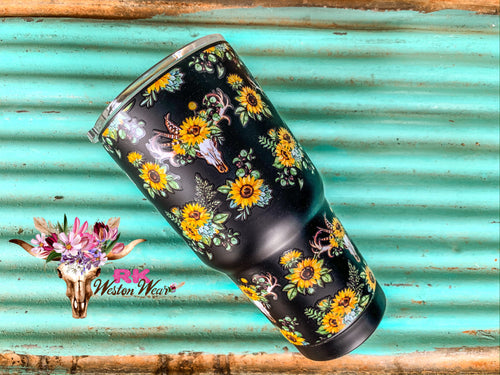BULL & SUNFLOWER TRAVEL MUG