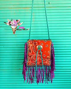 ORANGE BANDANA CROSSBODY