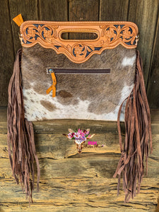 TOOLED COWHIDE CLUTCH (1)