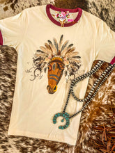 BOHO HORSE HEADDRESS TEE