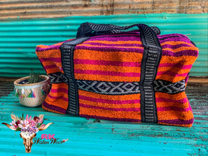 PINK & ORANGE OVERNIGHT BAG