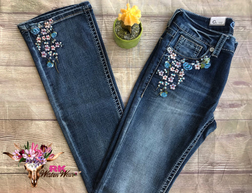 CHARME FLORAL BOOTCUT JEANS