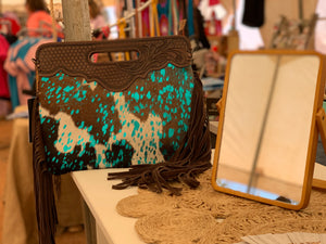 TOOLED COWHIDE CLUTCH (6)