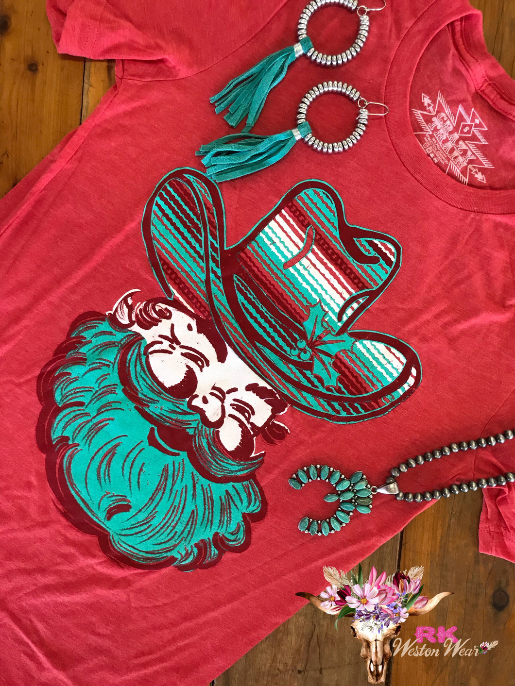 HOLLY JOLLY SANTA TEE