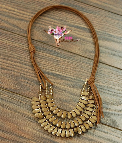 BROWN LAYERED NECKLACE