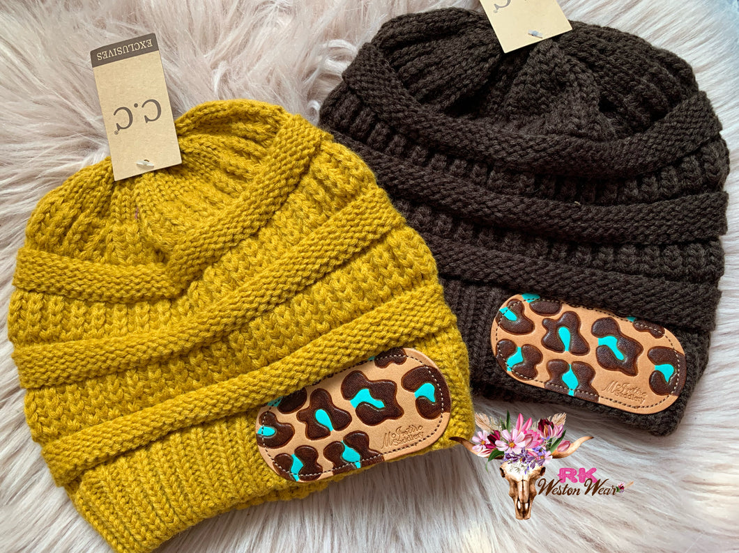 LEATHER PATCHED CC BEANIES (4)