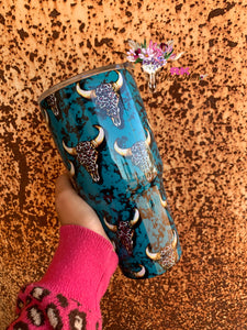 LEOPARD BULL TRAVEL MUG