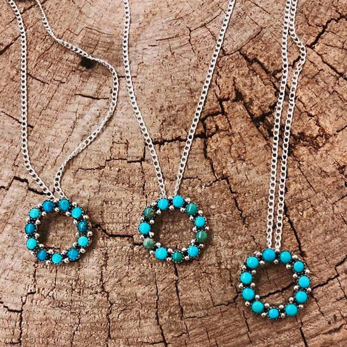 TURQUOISE ETERNITY NECKLACE (IN STOCK)