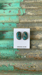 KINGMAN TURQ STUD EARRINGS #1