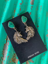 TURQUOISE HORSE EARRINGS