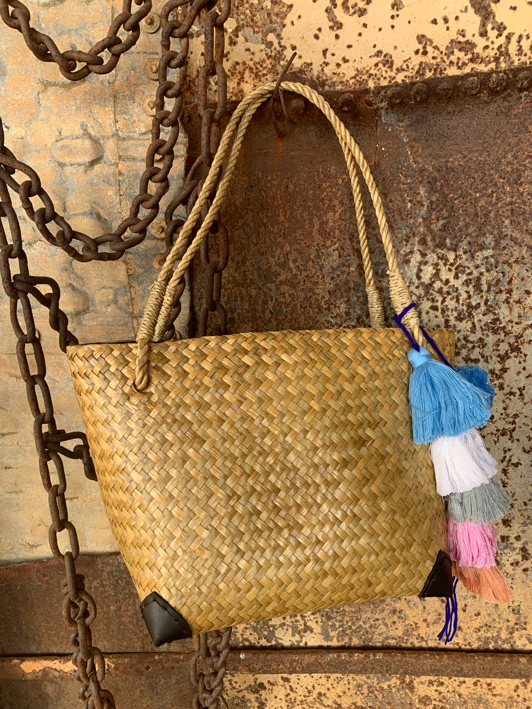Ethically Made Natural Krajud Basket