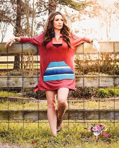 SERAPE SHIRT DRESS