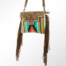 SADDLE BLANKET TOOLED CLUTCH/CROSSBODY