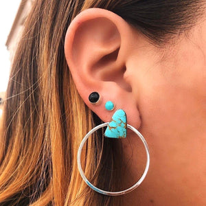 TURQUOISE EVERYDAY HOOPS