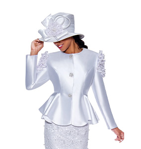 White Church Suits For Women