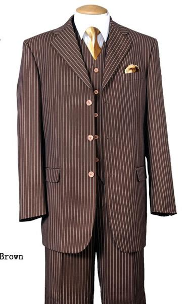 Milano Moda Men Suit 5802V7-Brown