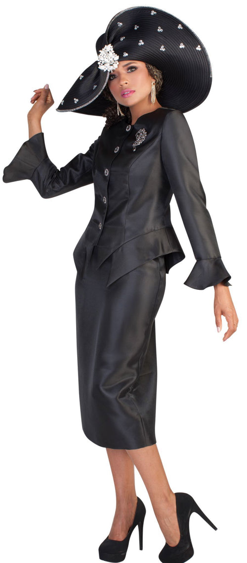 Tally Taylor Suit 4633-Black - Church Suits For Less