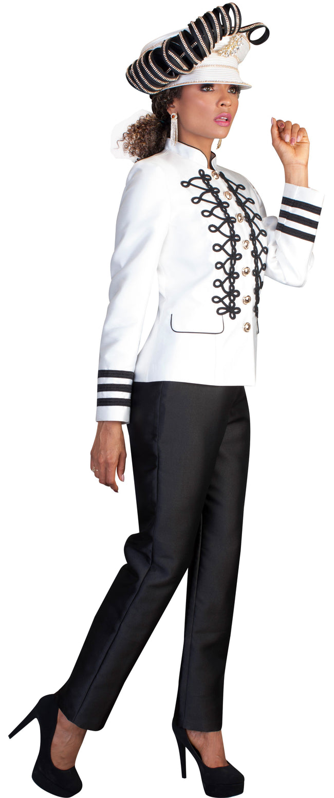 Tally Taylor Suit 4642-White/Black - Church Suits For Less