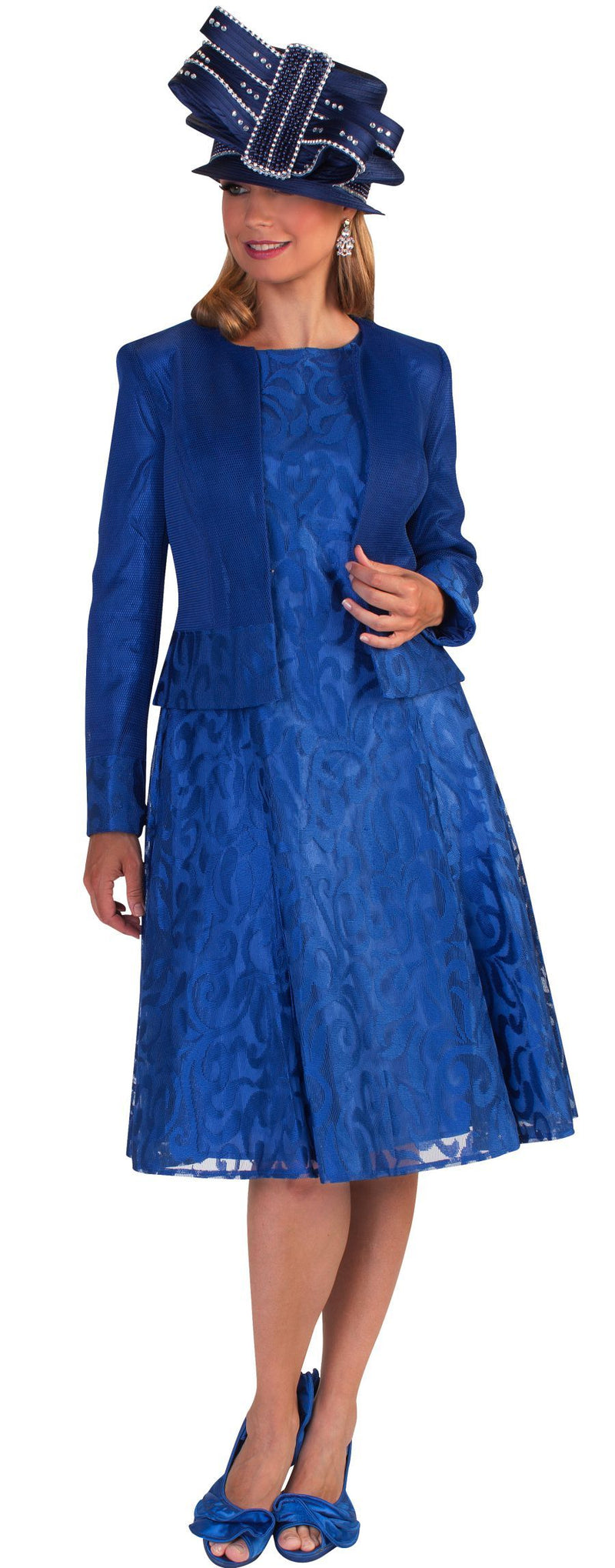 Tally Taylor Dress 4644-Bright Navy - Church Suits For Less