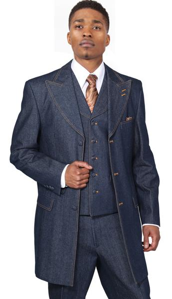 Men Suit 5285V-Blue