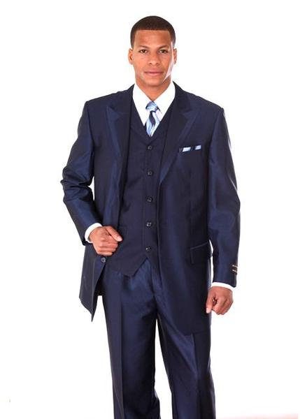 Milano Moda Men Suit 5807V-Navy
