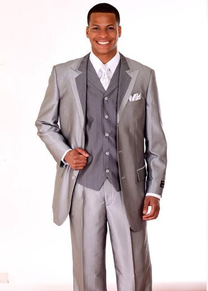 Milano Moda Men Suit 5807V-Silver