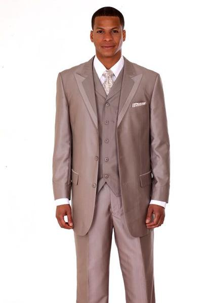 Milano Moda Men Suit 5807V-Tan