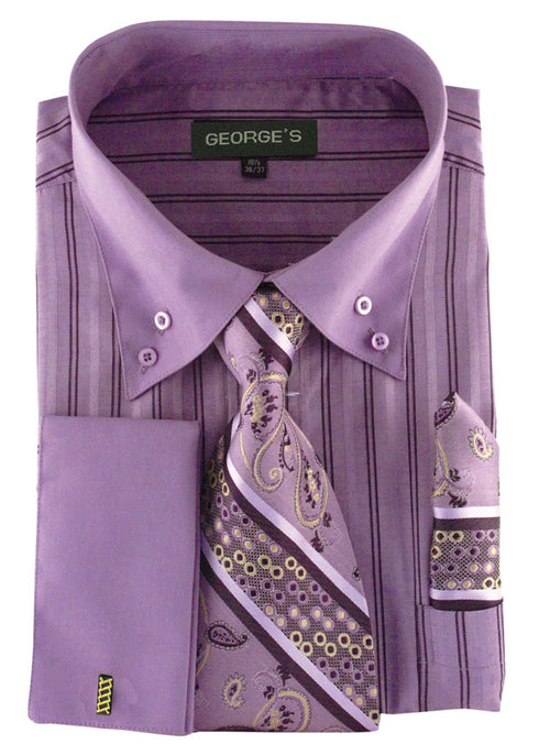 Men Dress Shirt AH601-Lavender