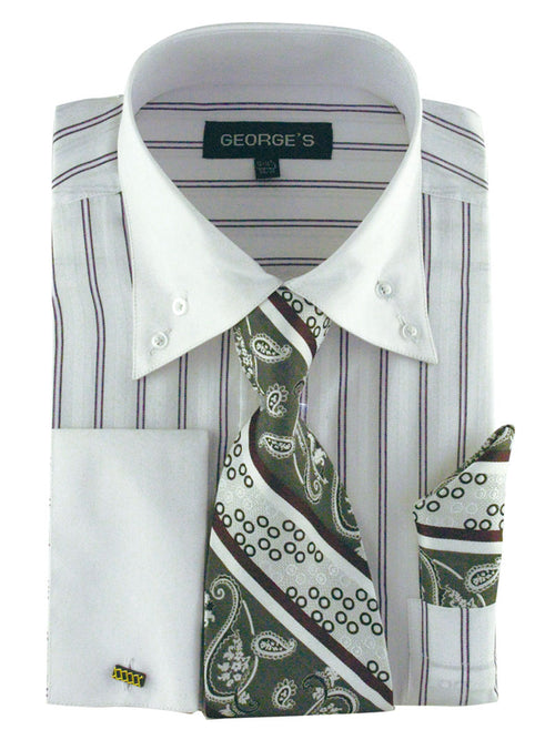 Men Dress Shirt AH601-White