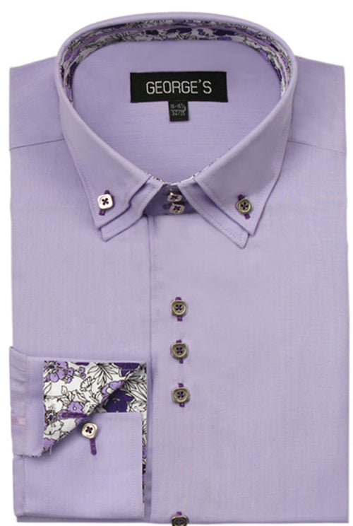Men Shirt AH-610-Lavender