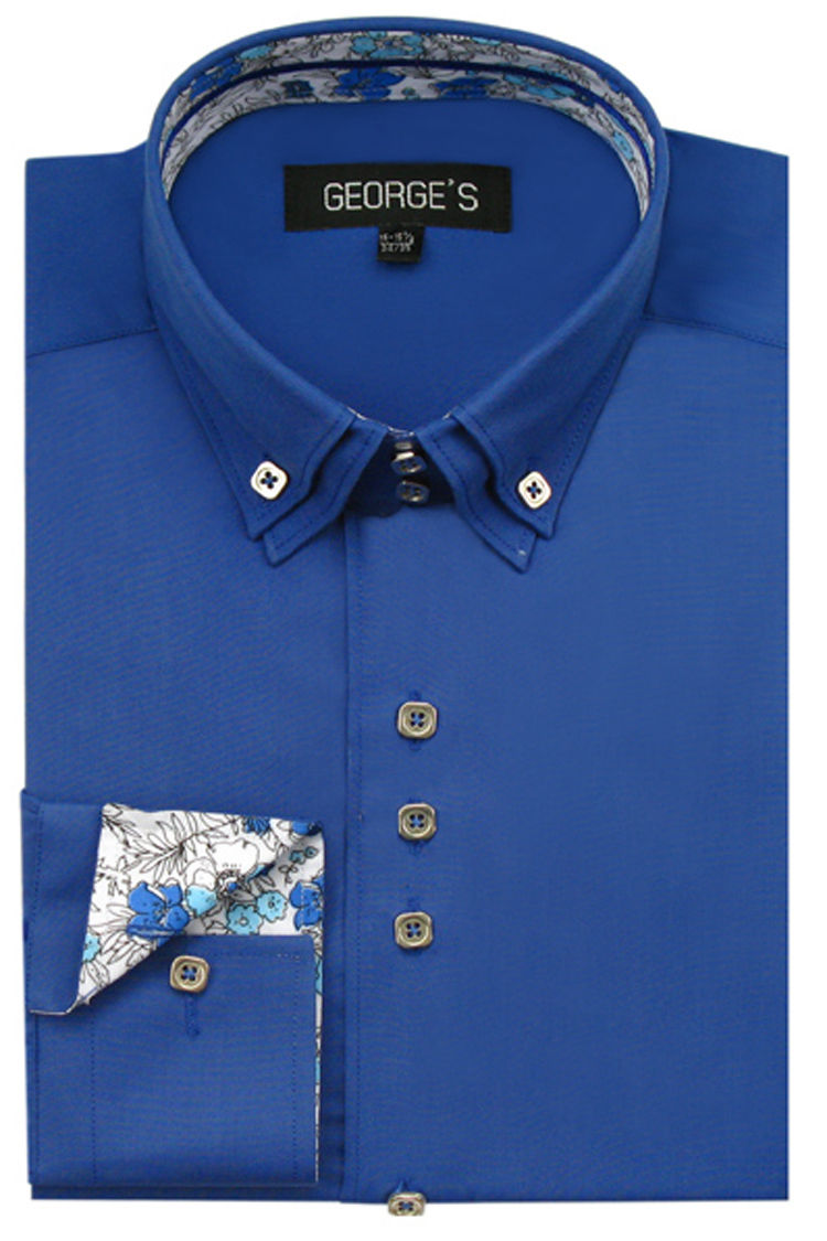 Men Shirt AH610-Royal Blue
