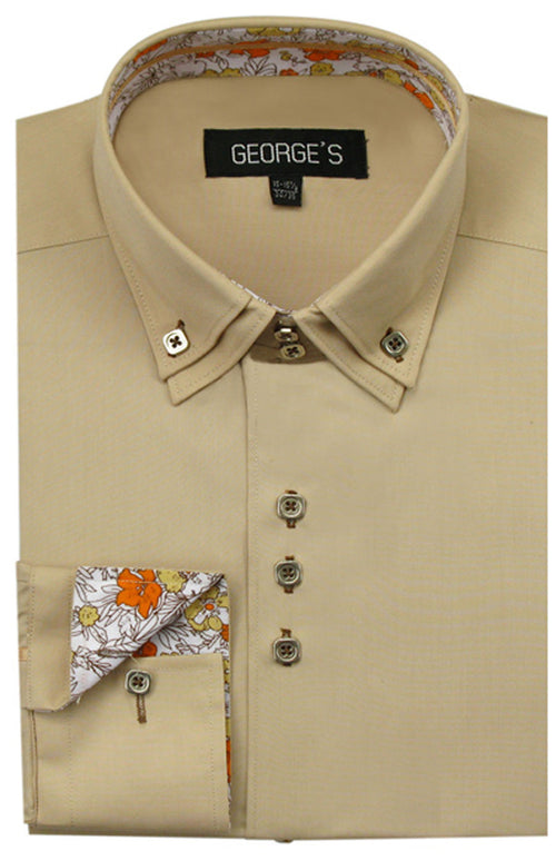 Men Shirt AH610-Tan