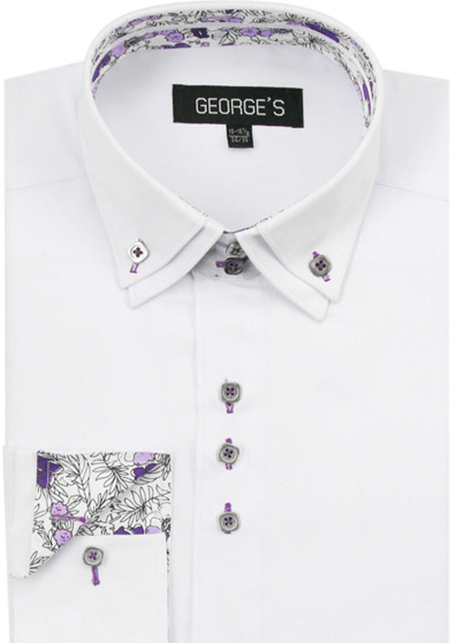 Men Shirt AH610-White