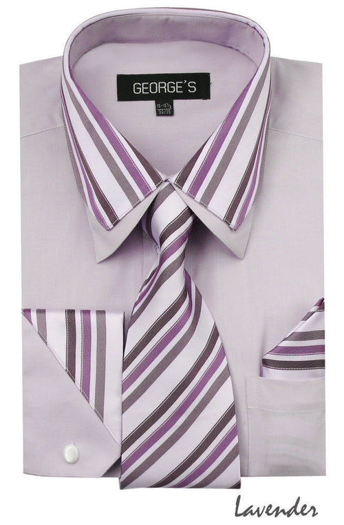 Men Shirt AH611-Lavender