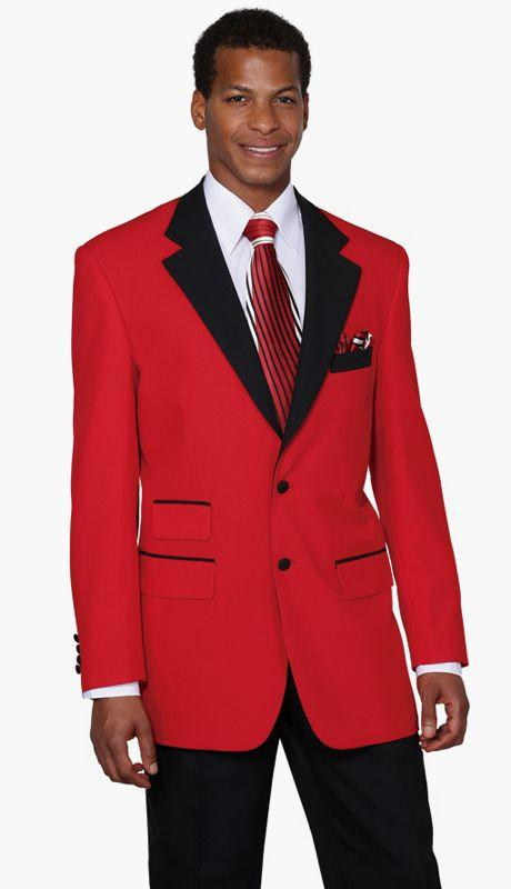 Milano Moda Suit 7022-Red/Black - Church Suits For Less