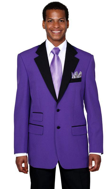 Milano Moda Suit 7022-Purple/Black - Church Suits For Less
