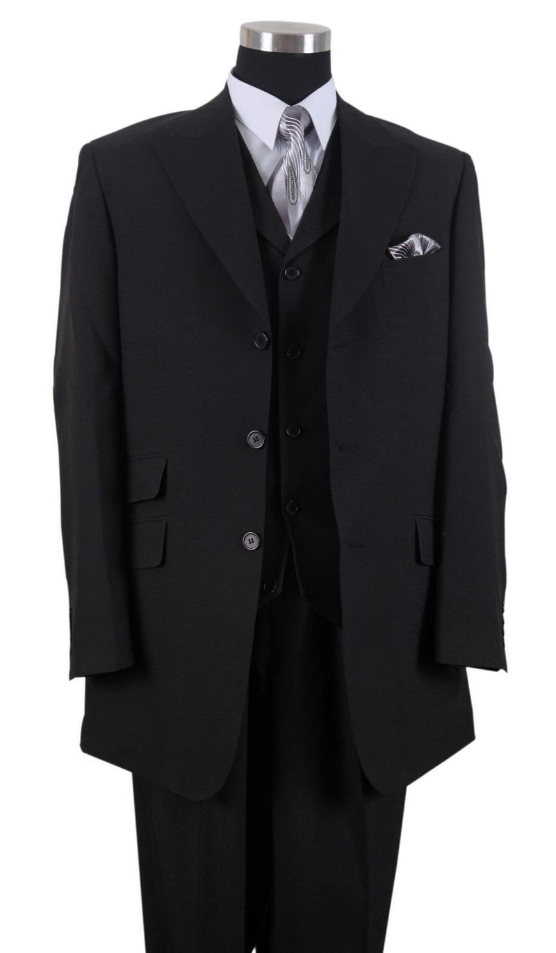 Milano Moda Suit 905V-Black - Church Suits For Less