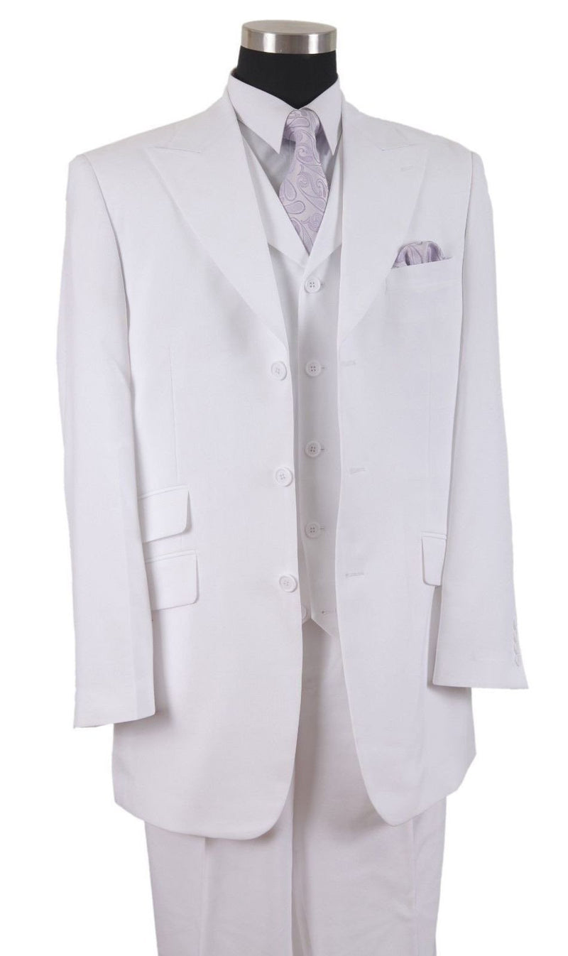 Milano Moda Suit 905V-White - Church Suits For Less